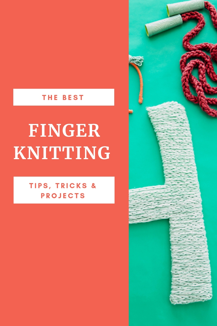 The best finger knitting projects. How to finger knit tips & tricks