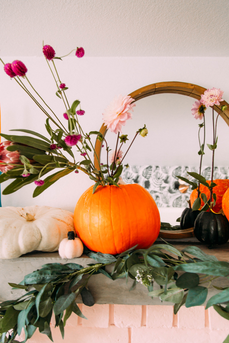 How to make a pumpkin flower vase