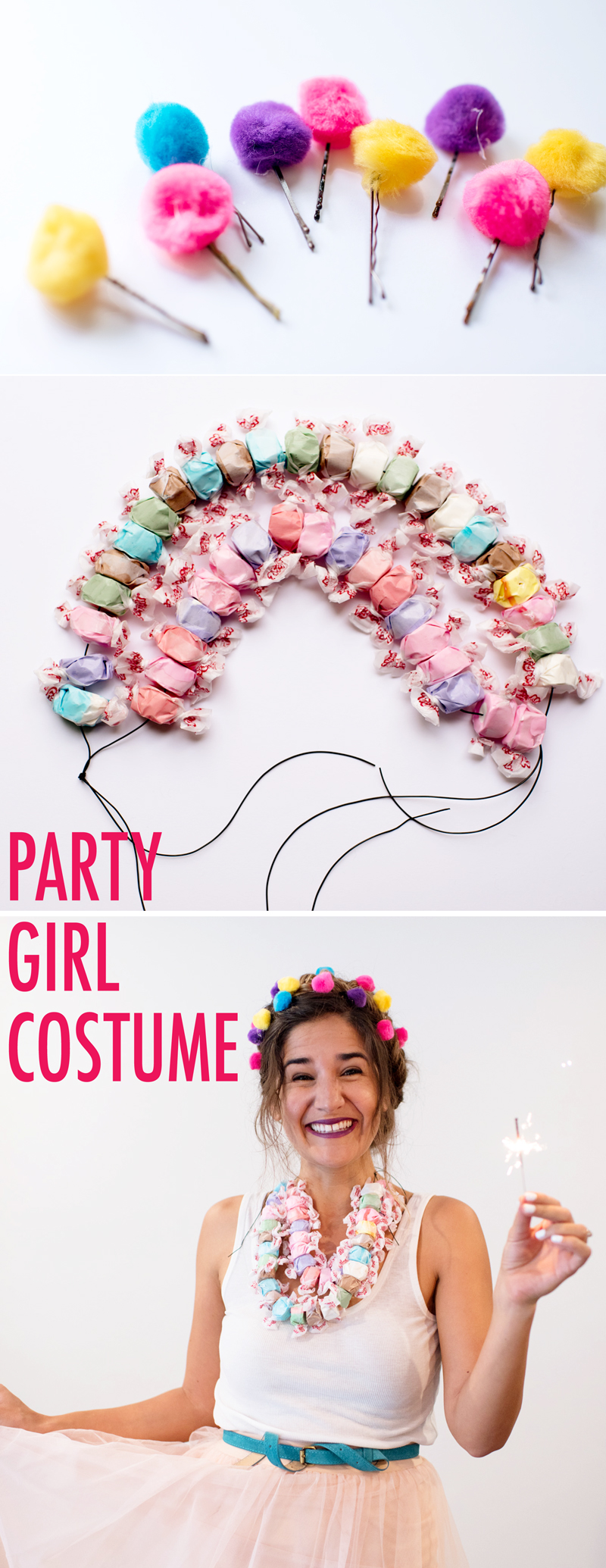 candy girl costume DIY