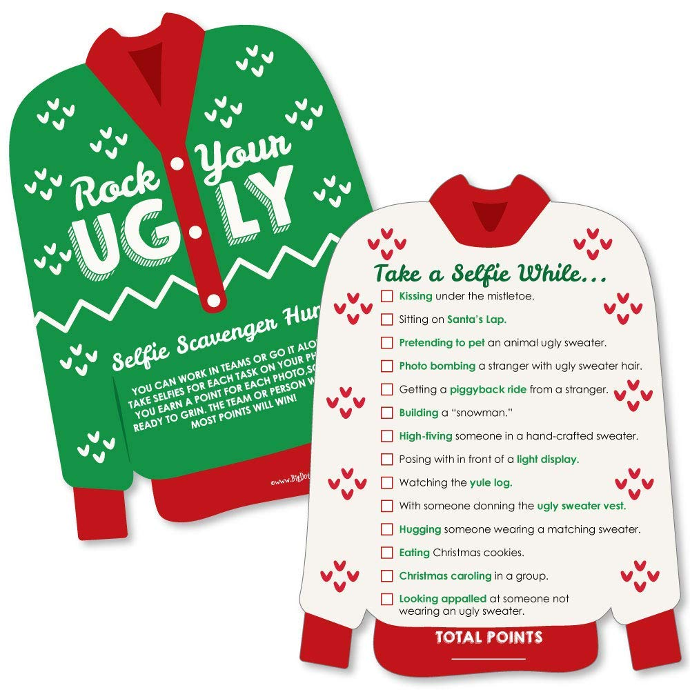 Ugly Christmas Sweater Party Ideas & Games