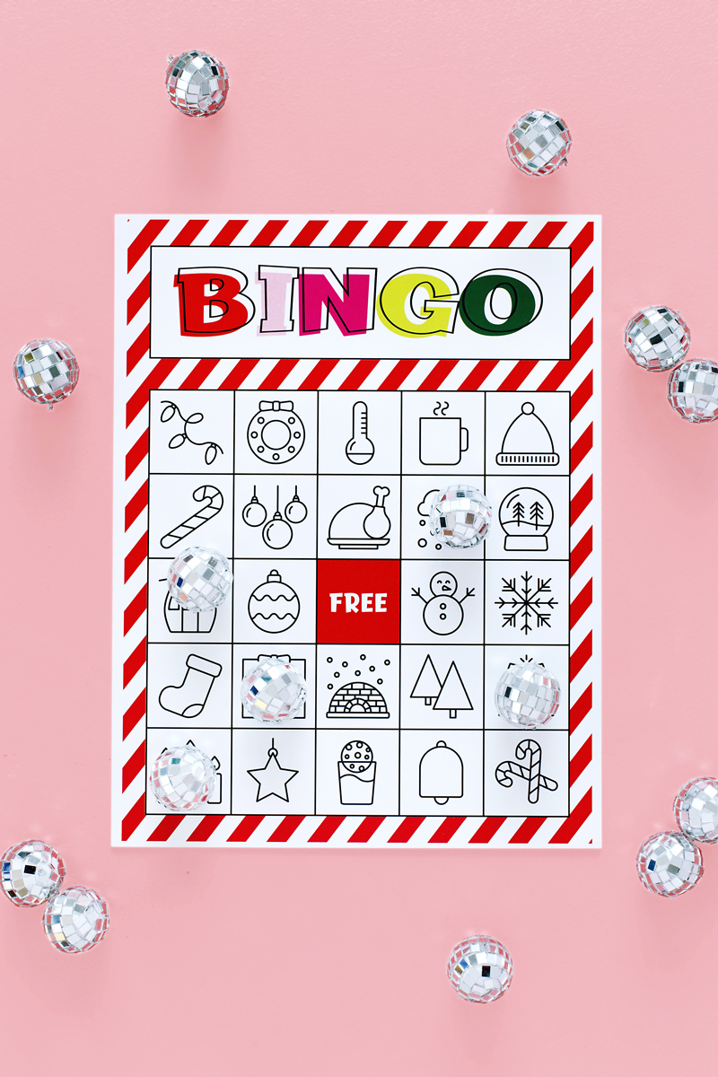 picture relating to Printable Christmas Bingo named Xmas Bingo Printable For Weighty Classes Very low A