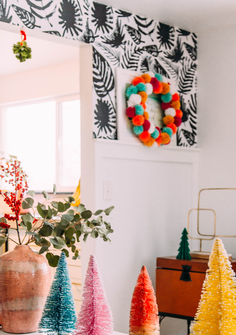 Bottle brush collection christmas decorations
