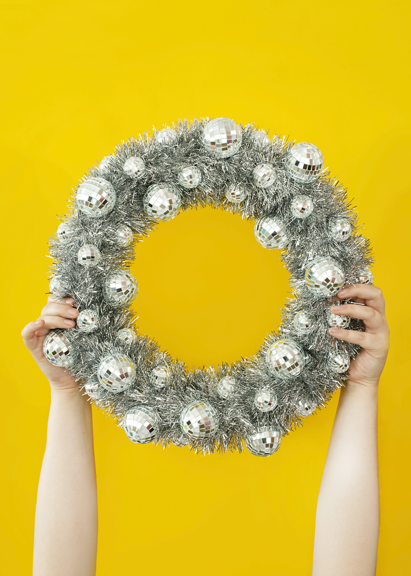 Disco Ball New Years Wreath
