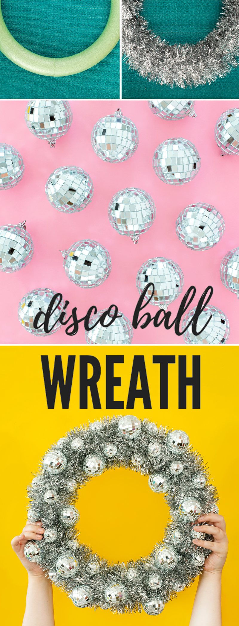 Disco Ball Wreath for New Years