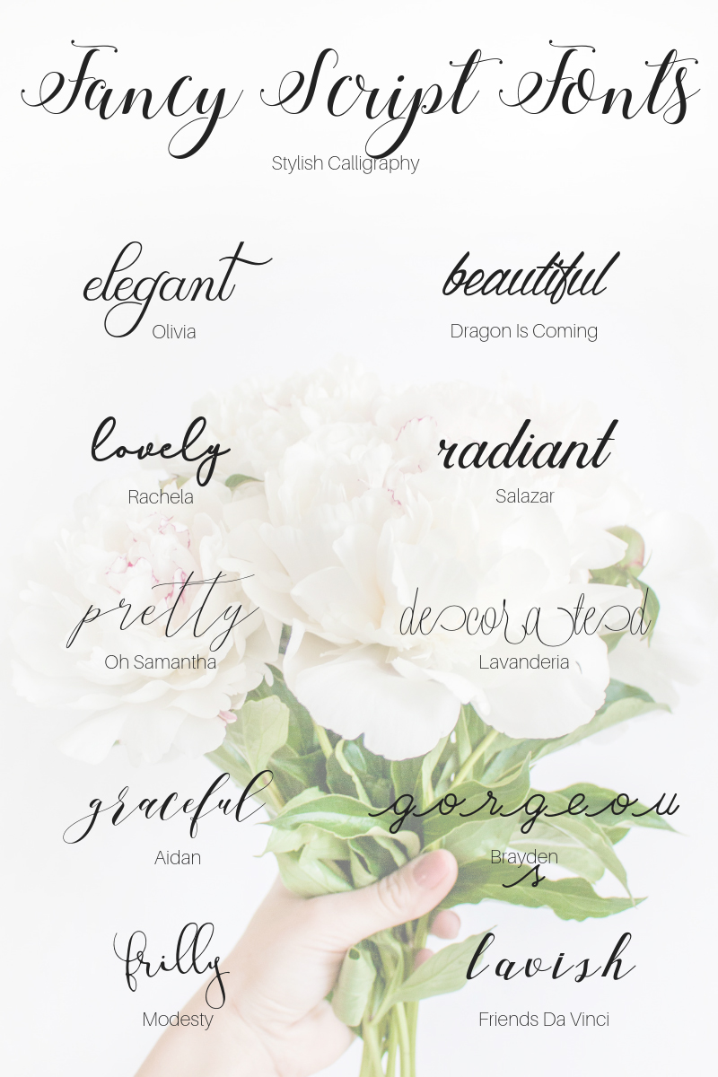 Fancy Script Fonts