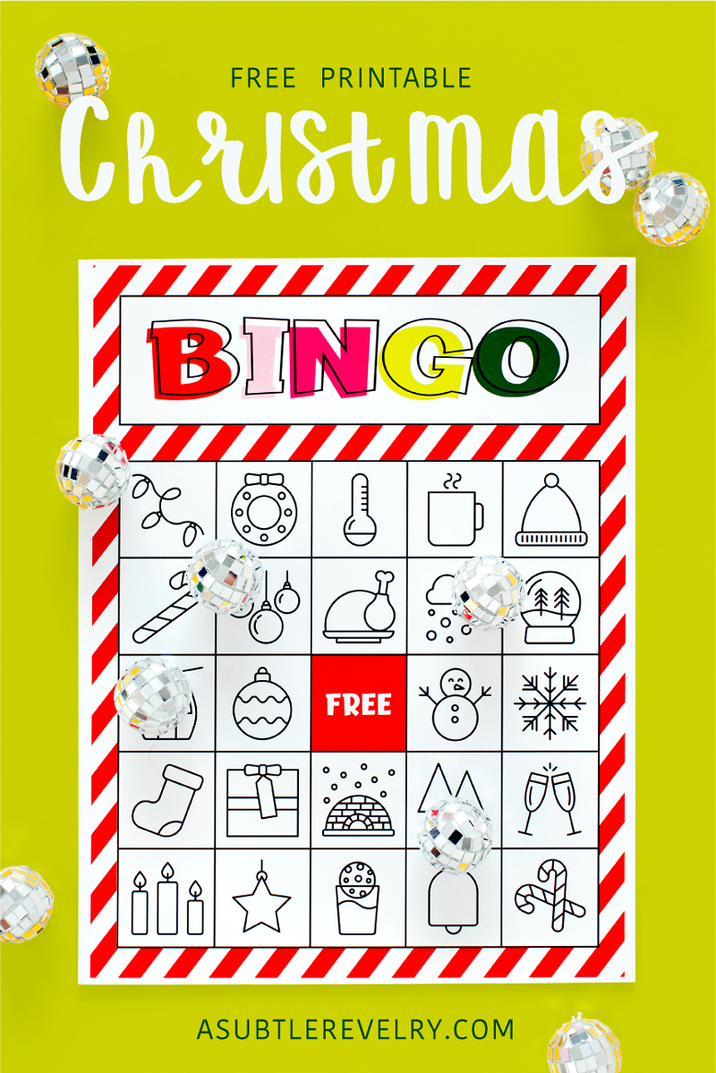Free Christmas bingo printable