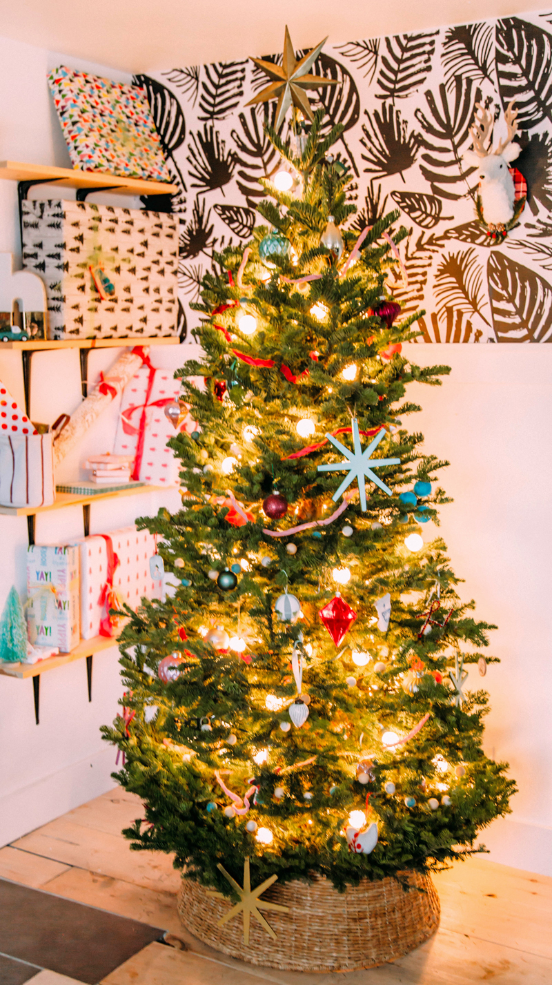 Christmas tree inspiration idea safe for puppies