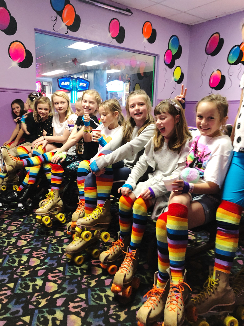 Roller Rink 10 Year Old Birthday Party Idea