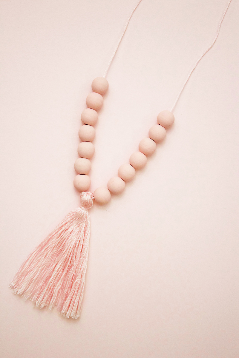 Pink Tassel Necklace DIY