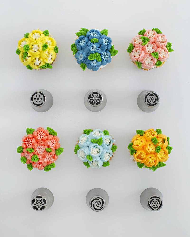 Russian piping tips chart for making flowers