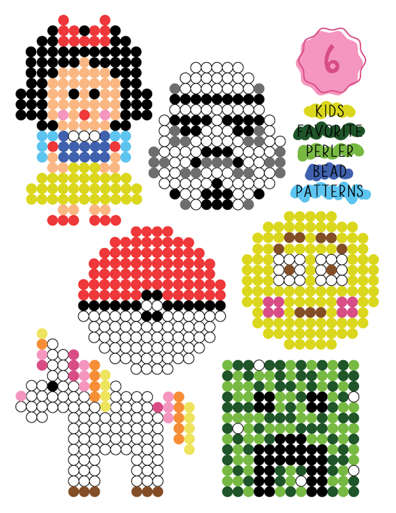 Kid Friendly Perler Bead Patterns Party Favors A Subtle Revelry