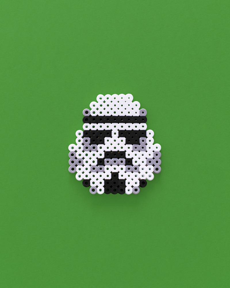 Star wars storm trooper perler bead pattern