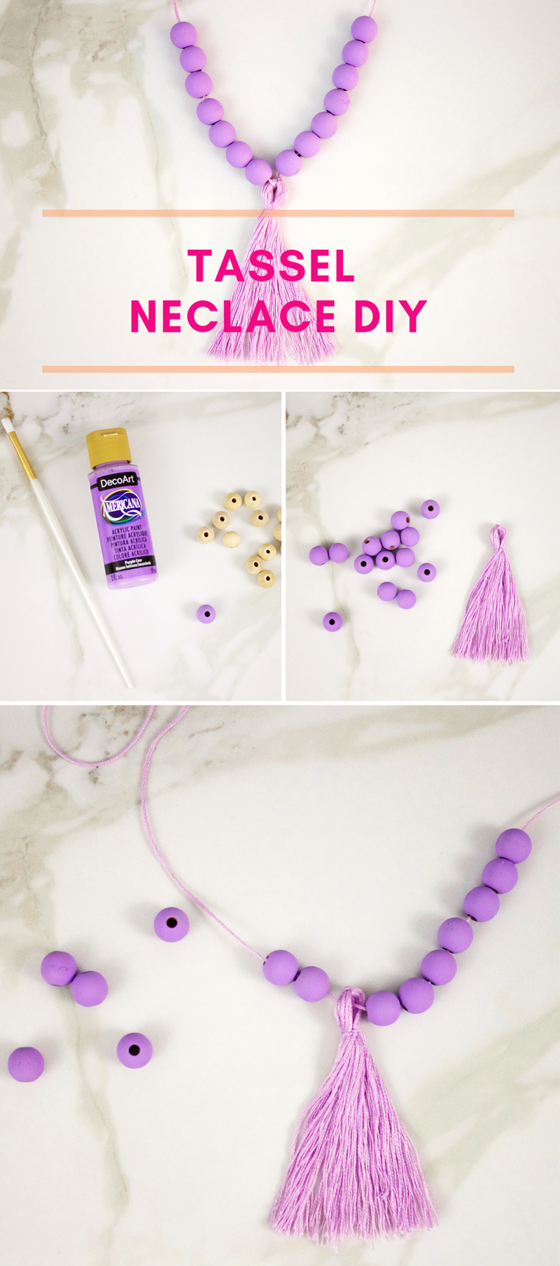 How to make a Tassel Necklace DIY