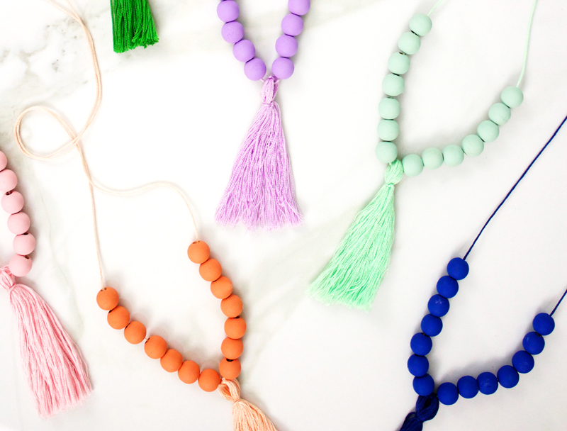 Fun Colorful Tassel Necklace DIY
