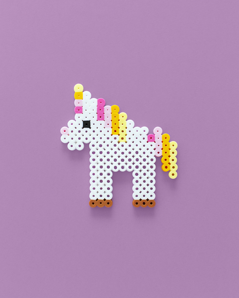 Unicorn rainbow perler bead pattern