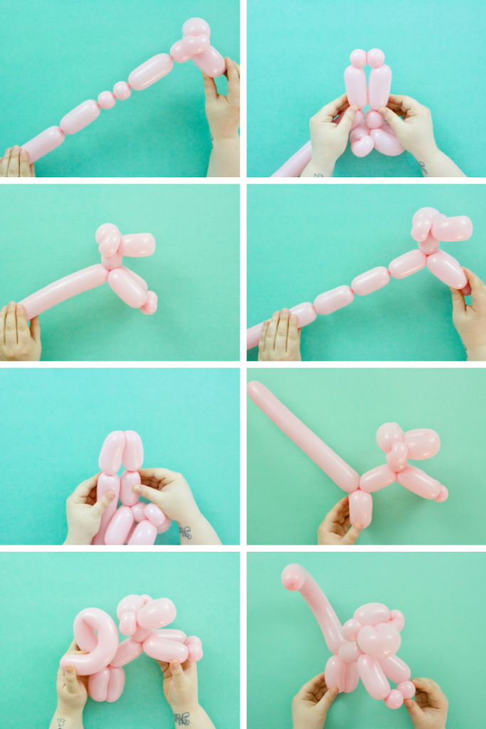 balloon monkey step-by-step