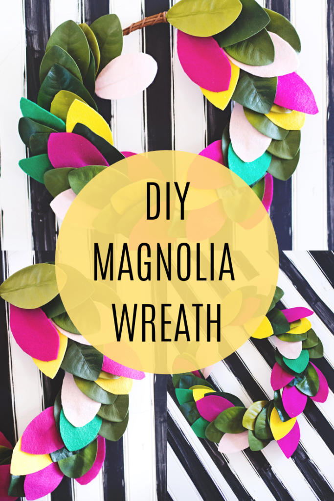 Super easy Magnolia Wreath DIY