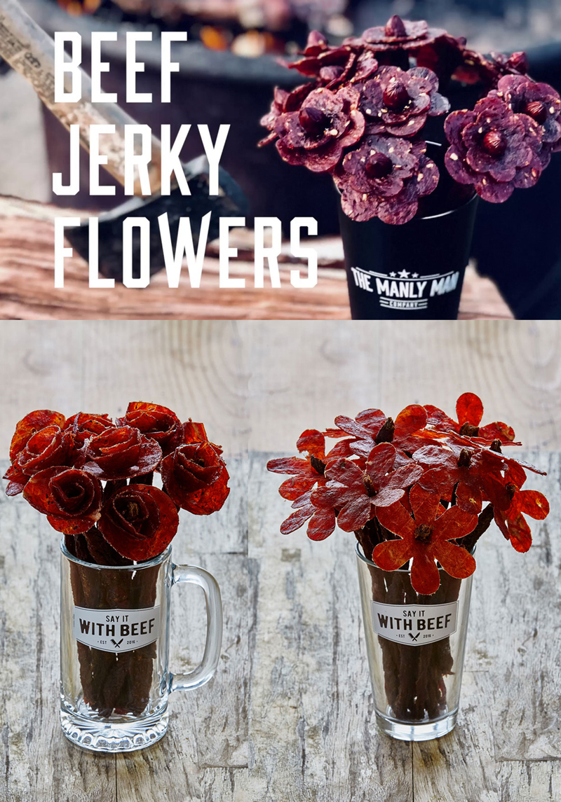 Beef Jerky Bouquet DIY