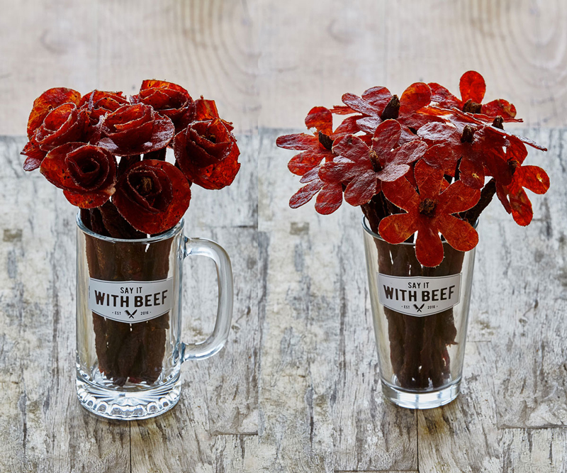 Beef Jerky Bouquet for Valentines Day