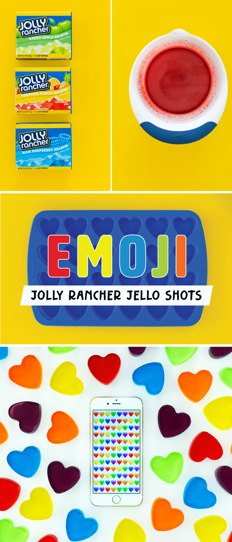 Emoji Jolly Rancher Jello Shots
