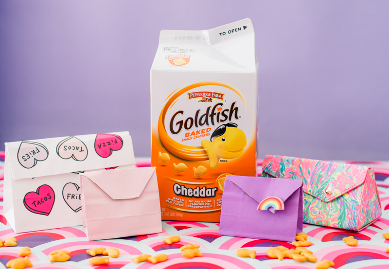 DIY travel snack packs with Goldfish