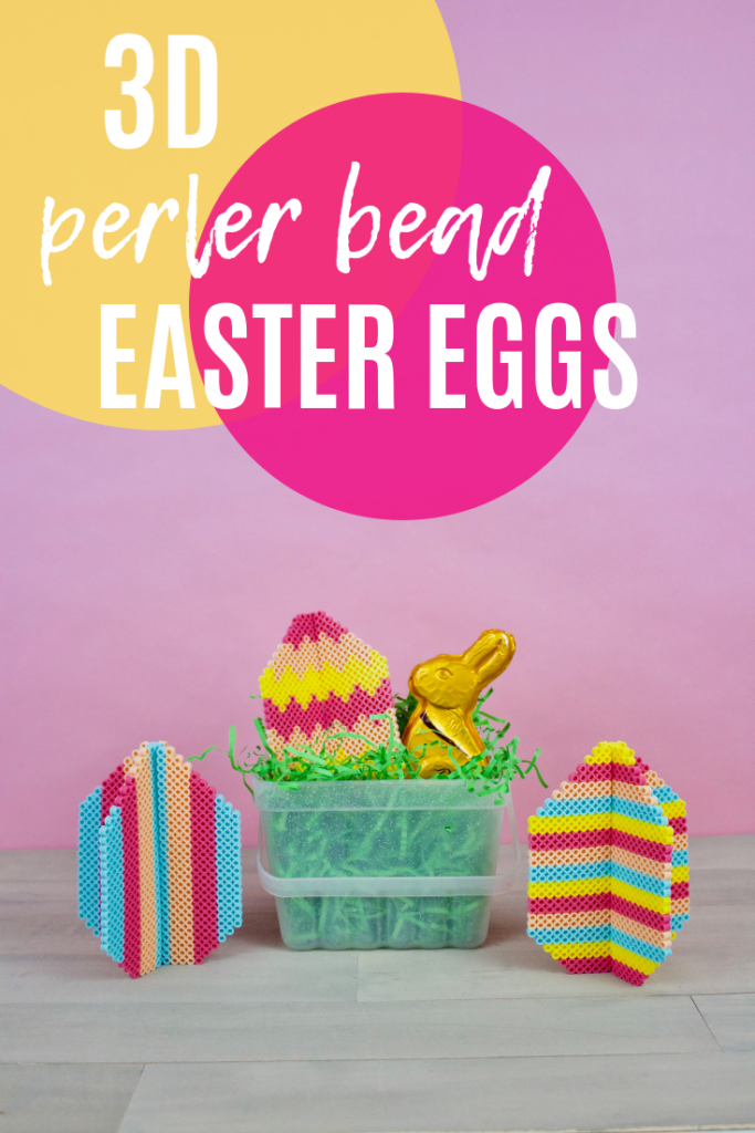 3D perler bead easter eggs