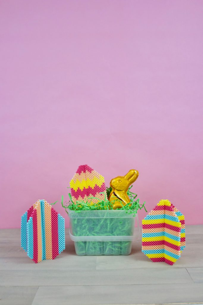 DIY perler bead Easter eggs