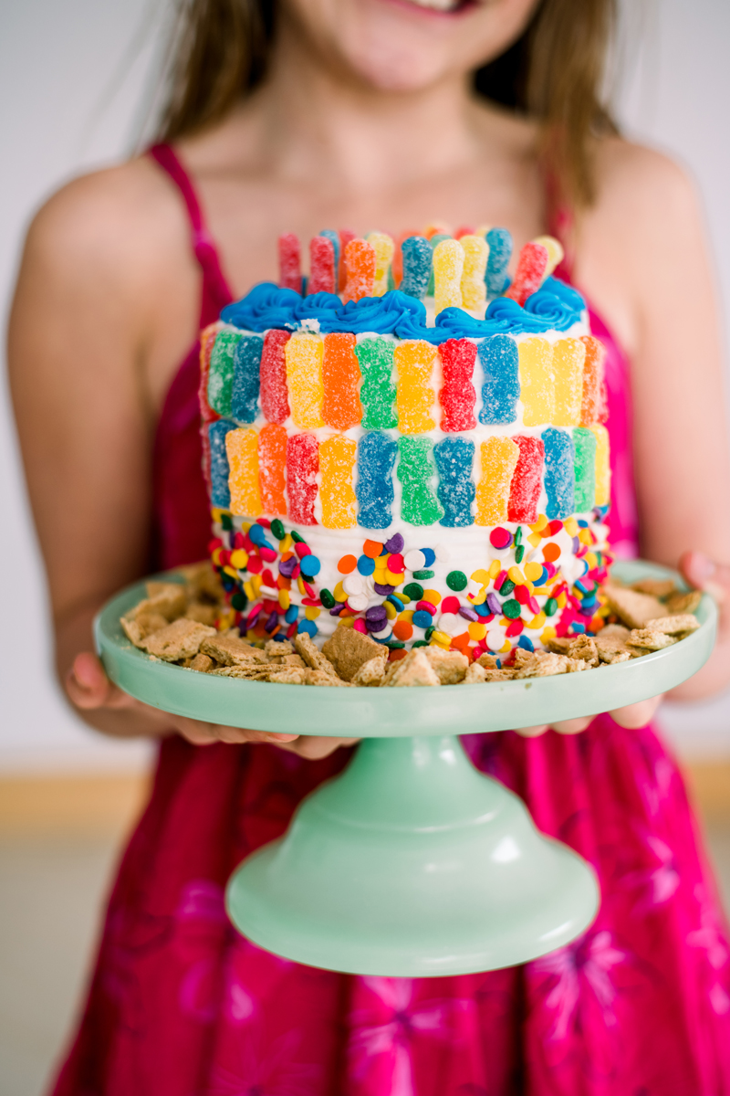 How to make a sour patch kids cake