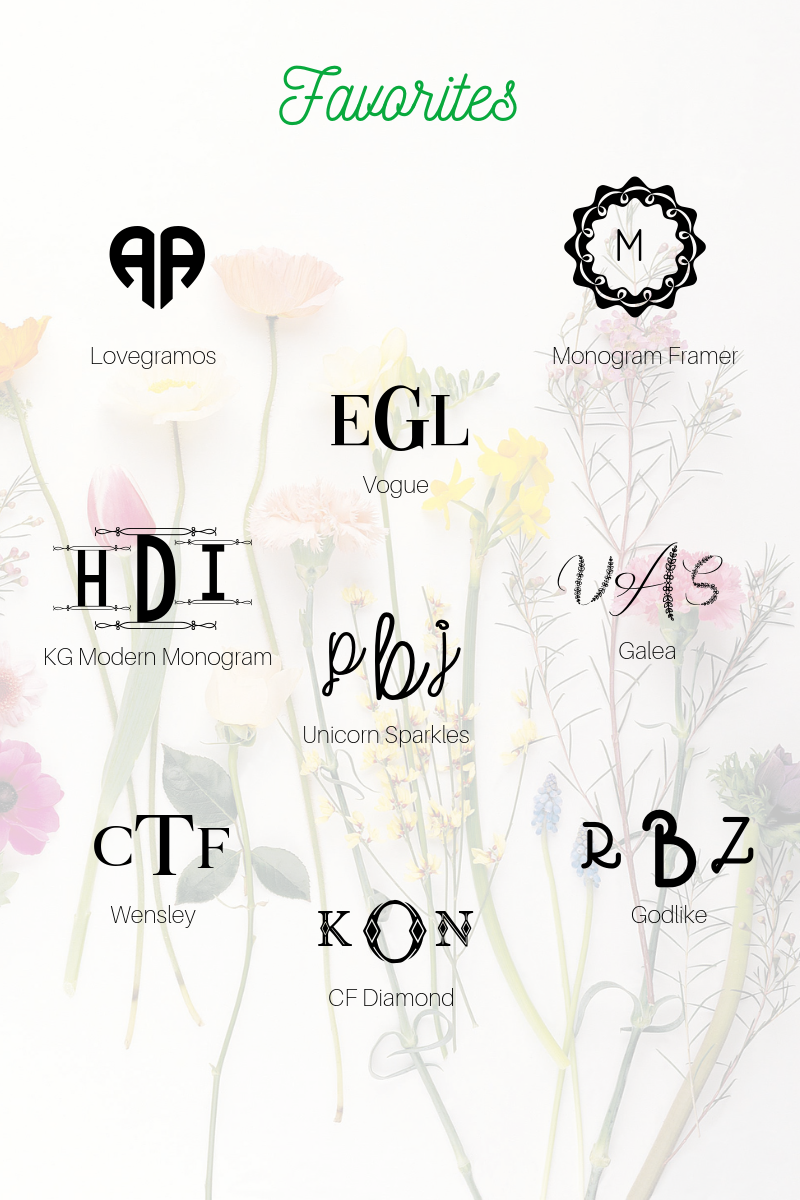 The best free monogram fonts for 2019