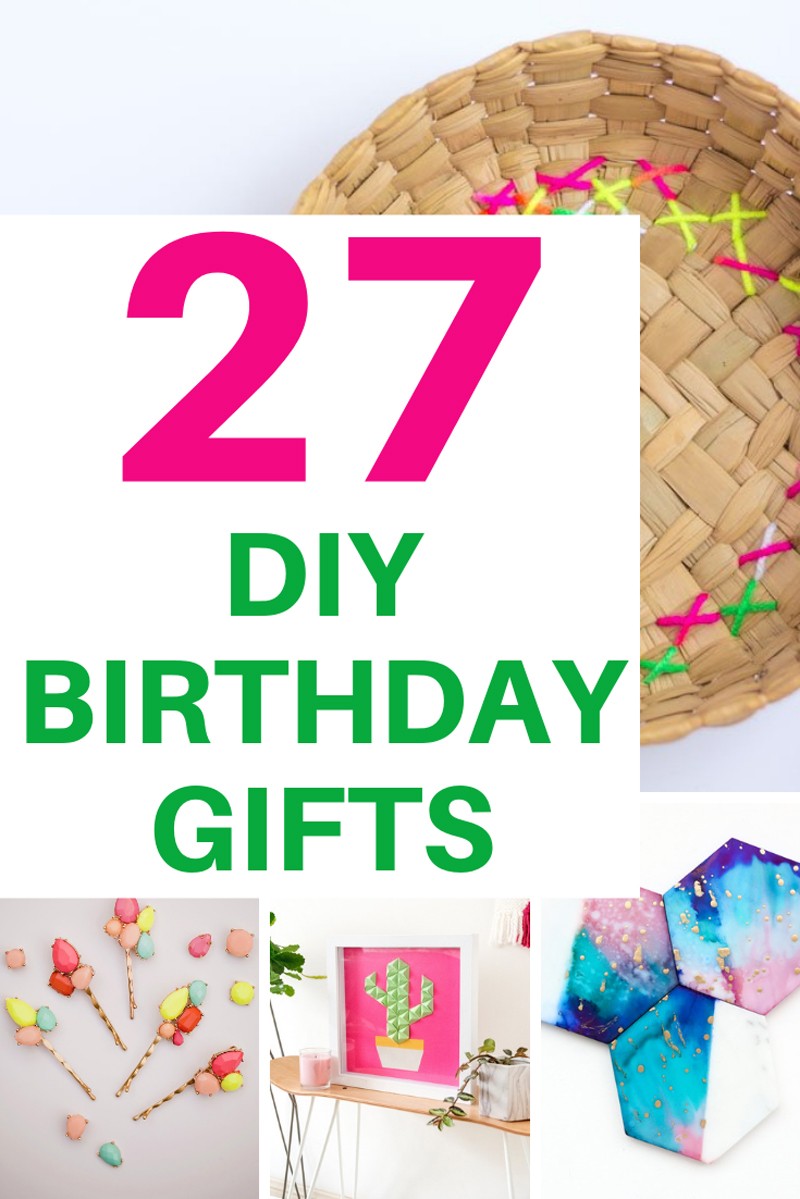 27 DIY birthday gifts you can make in under an hour