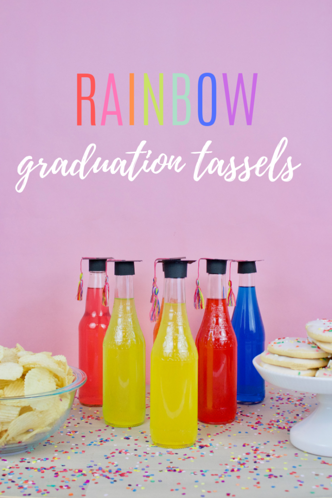 DIY Rainbow graduation tassels