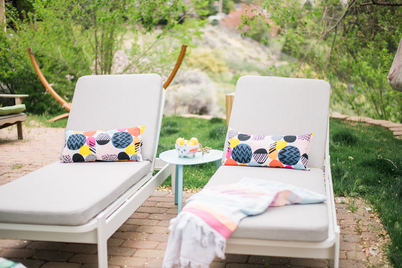 Outdoor lounge chairs from article