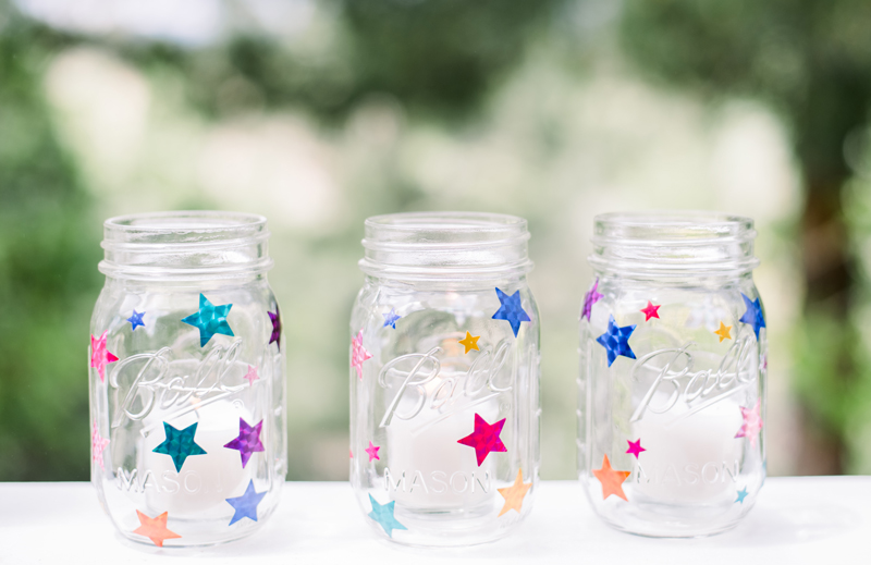 Ball jars 4th of July decorations