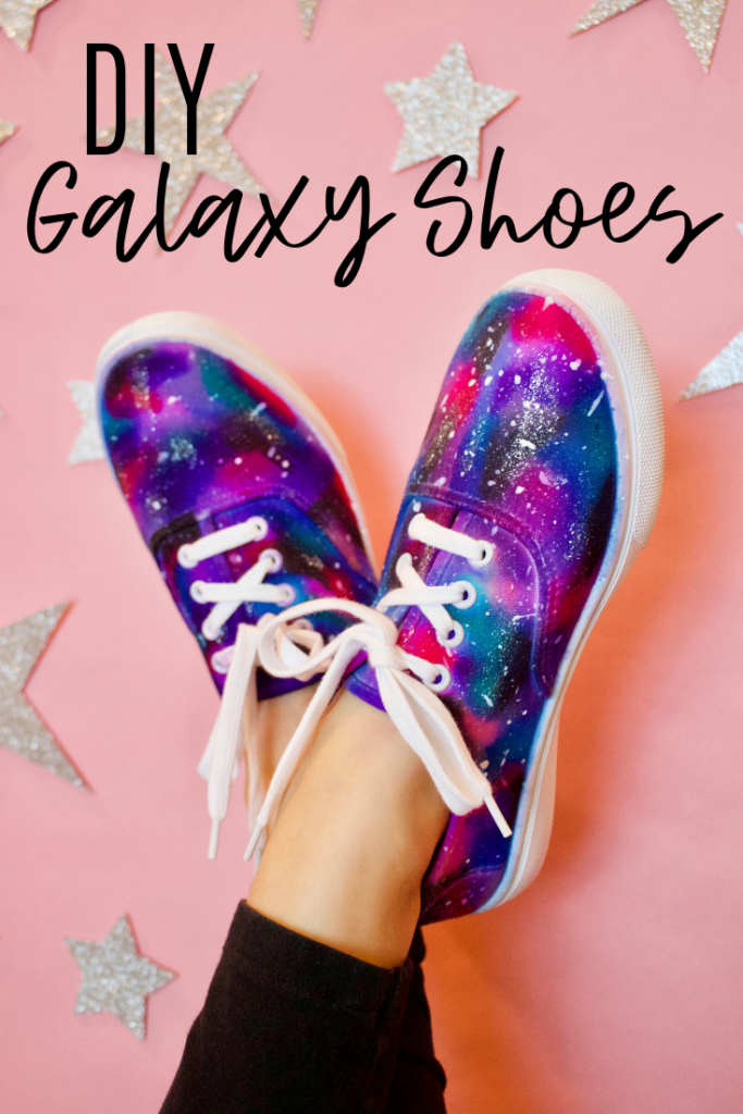 DIY galaxy shoes with a sharpie