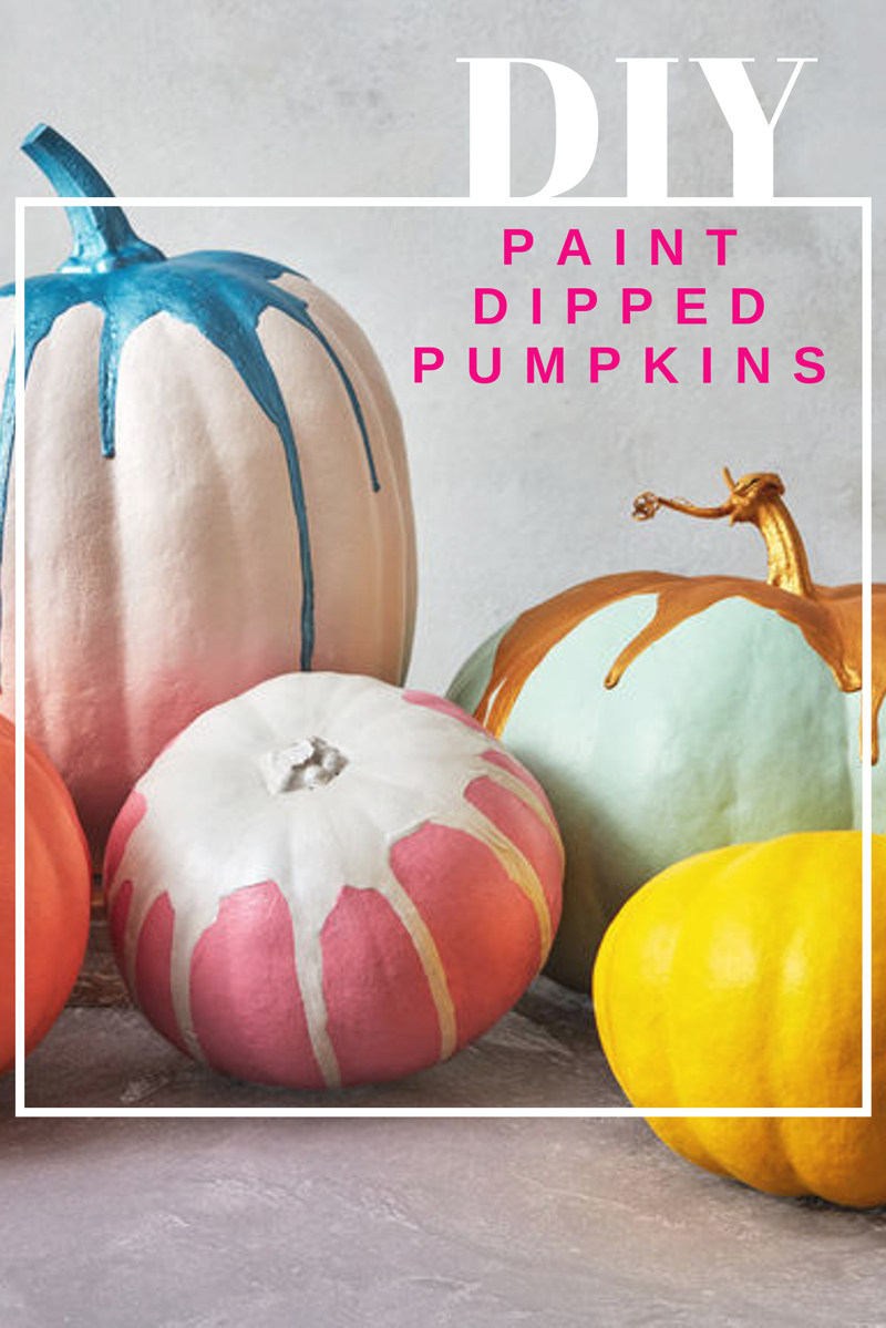 Paint Dipped Pumpkins Craft Project