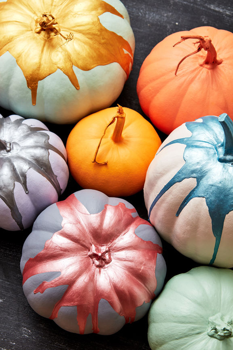 How To Make Paint Dipped Pumpkins The Easy Way