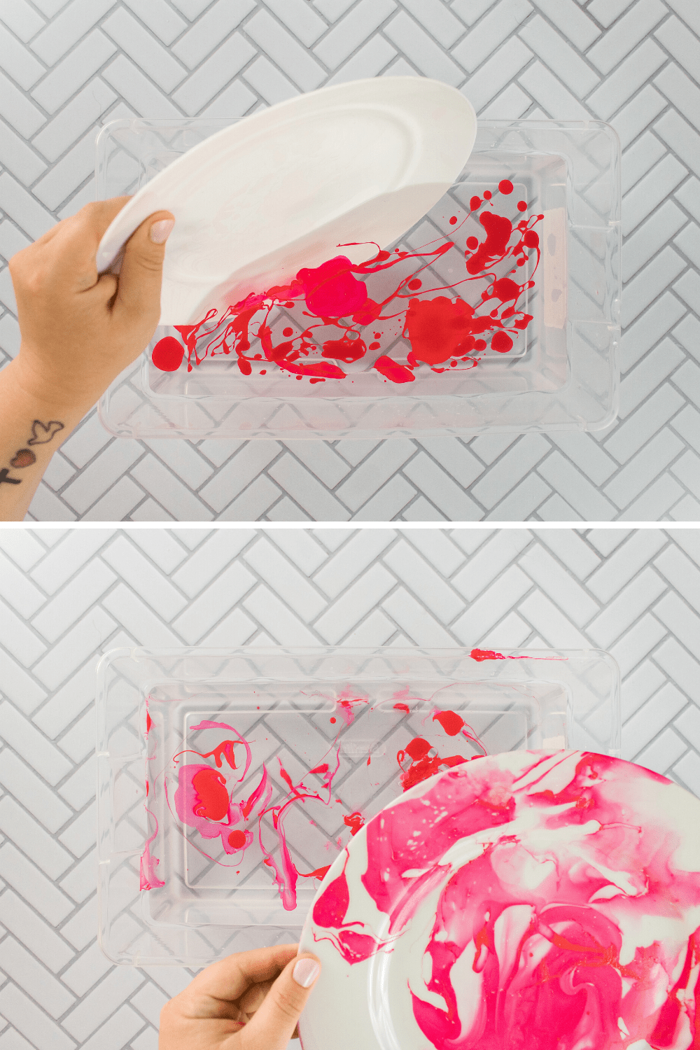 Marbled Plate DIY