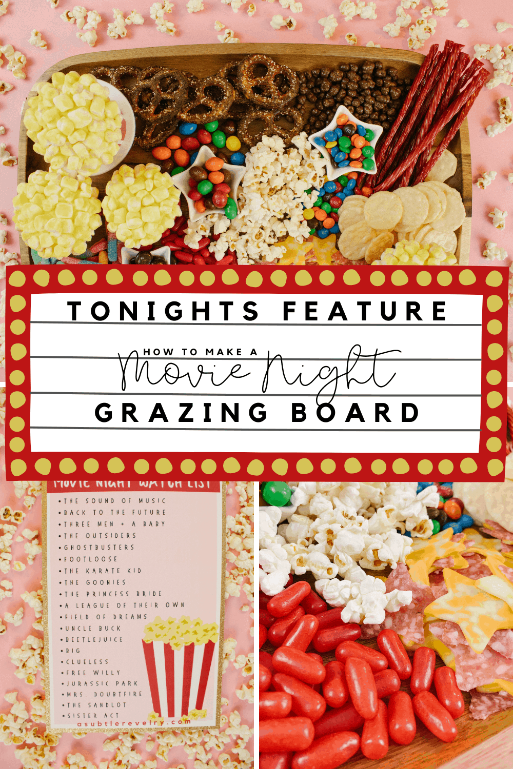 Movie Night Grazing Board Ideas